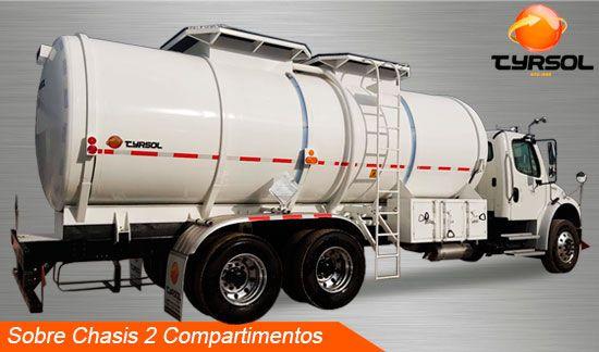 Tanque sobre chasis 2 compartimientos Tyrsol México